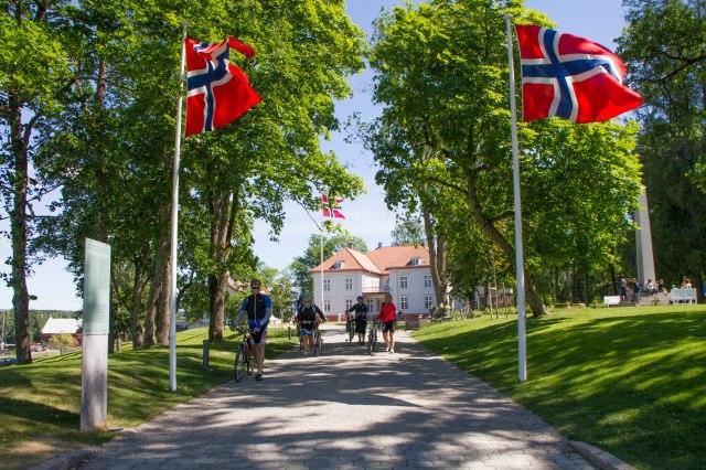 Dag to av stafetten, og etappen Eidsvoll - Jessheim står for tur, i strålende sol!